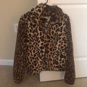 Urban Outfitters warm leopard jacket